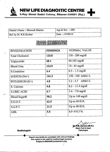 BHUVNESH-KUMAR SHARMA-50Yrs-Cortical-Echotexture-of-Both-Kidneys-Increasde-BIlateral-Medical-Renal Disease-Diabetic-NIIDM-Patient-report-1