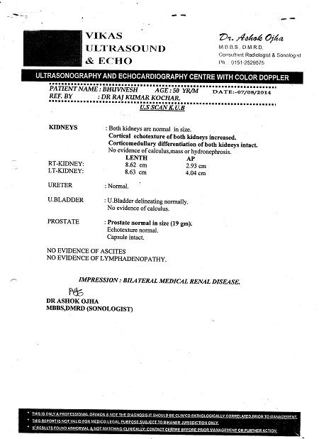BHUVNESH-KUMAR SHARMA-50Yrs-Cortical-Echotexture-of-Both-Kidneys-Increasde-BIlateral-Medical-Renal Disease-Diabetic-NIIDM-Patient-report-3